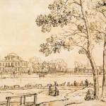 Вид дачи Д. Л. Нарышкина с Крестовского острова