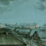 Перспектива Первой Госпитальной улицы в сторону Военного сухопутного госпиталя на Выборгской стороне