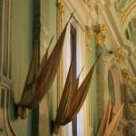 Флаги на стене Петропавловского собора