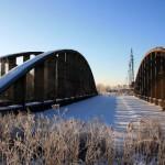 Конструкции Володарского моста в Новосаратовке