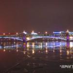Троицкий мост ночью