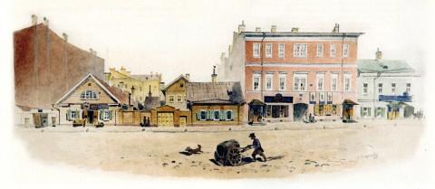 Баганц Ф. Ф., Часть Итальянской улицы, напротив дома матушки. 1860-1862 годы.