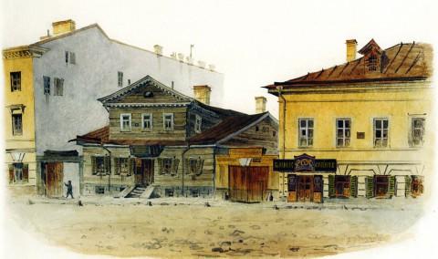Баганц Ф. Ф., Кабак на Итальянской / между Литейной и Надеждинской улицами. 1862 год.
