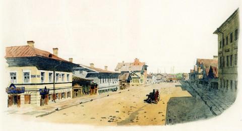 Баганц Ф. Ф., Преображенская ул. (близ Итальянской). 1859 год.