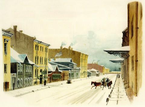 Спасская улица. 1862 год.