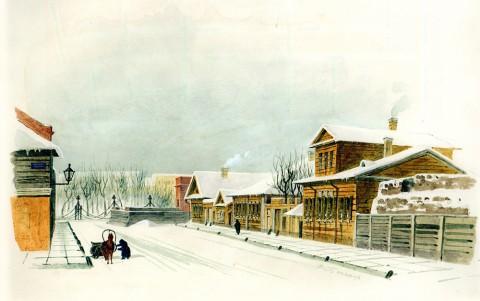 Баганц Ф. Ф., Манежный переулок. 1862 год.