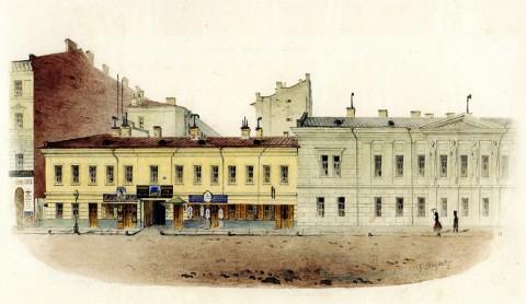Баганц Ф. Ф., Дом Боссе - ныне Пеццулевича. Литейная ул. 1854 год.