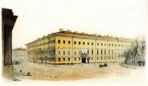 Баганц Ф. Ф., Дом Крыловой. Михайловская площадь. 1852-1853 годы.