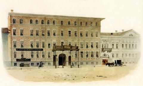 Баганц Ф. Ф., Дом Телешевой / Малая Морская. 1851-1852 годы.