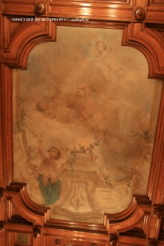 Плафон Детской спальни в особняке А. Ф. Кельха. 2008.11.04.