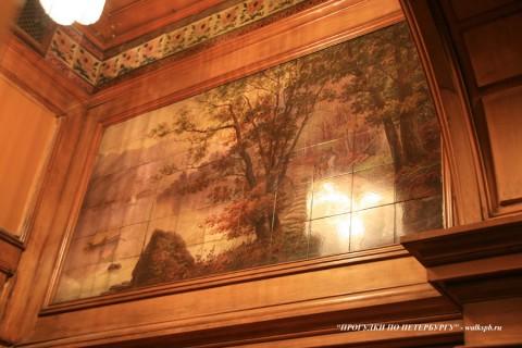 Фрагмент Детской спальни в особняке А. Ф. Кельха. 2008.11.04.