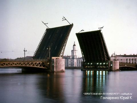 Гончаренко Ю.К., Разведённый Дворцовый мост.