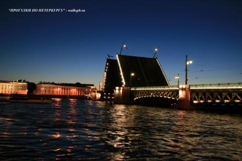 Дворцовый мост ночью. 2008.07.07.