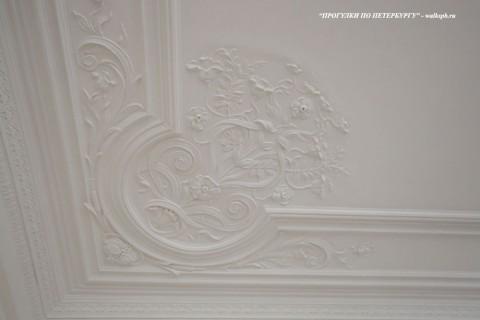 Чернега А.В., Лепнина потолка в комнате парадной анфилады. 23.03.2012.