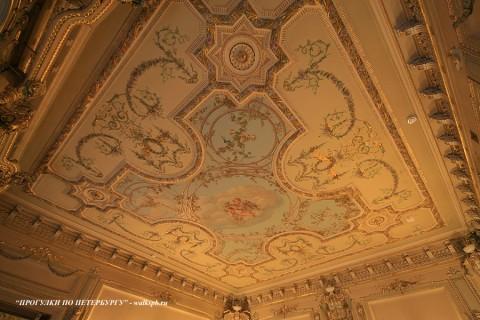 Плафон зала в Малом Мраморном дворце. 2009.04.12.