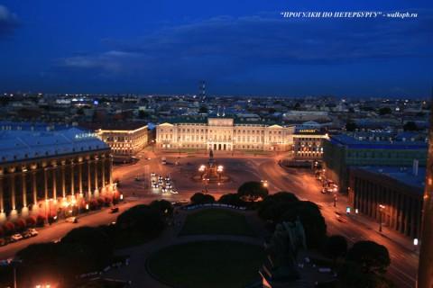 Исаакиевская площадь ночью. 2008.07.06.