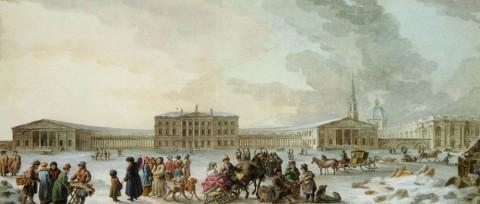 Траверс Ж. Б., Ассигнационный банк со стороны Сенной площади. 1780-е - 1780-е.