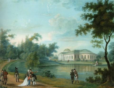 Неизвестный художник, Таврический дворец со стороны сада. 1800-е.