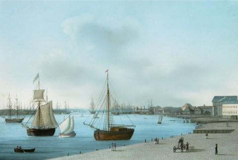 Барт И. В., Вид на Неву и Горный кадетский корпус. 1810-е.