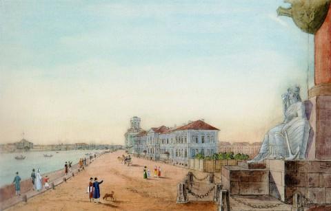 Галактионов С. Ф., Биржа с маяками. 1820.
