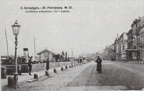 Нева, Английская набережная у Ново-Адмиралтейского канала.