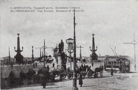 Нева, Дворцовая набережная у Троицкого моста.