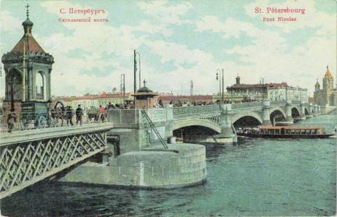 Часовня на Николаевском мосту.