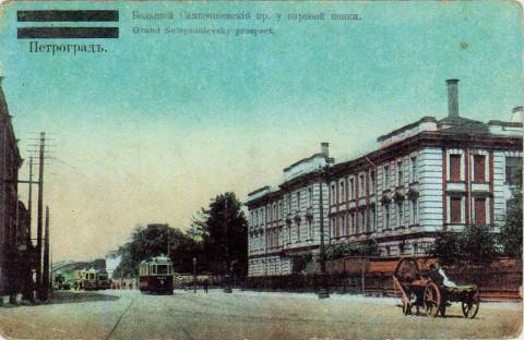 Большой Сампсониевский проспект на выезде из города.