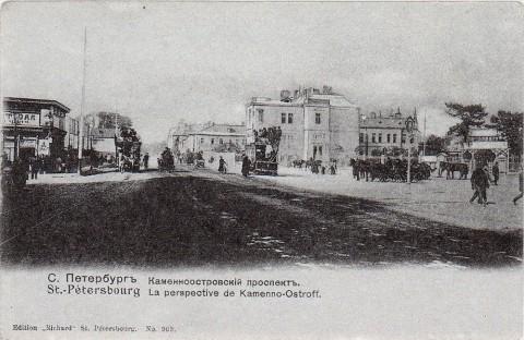 Каменноостровский проспект на выезде из города.
