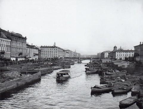 Булла К. К., Перспектива реки Фонтанки от Симеоновского моста к Невскому проспекту. 1900.