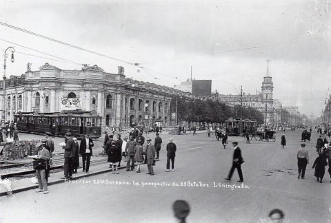 Угол Невского проспекта и Садовой улицы, 1937 г.