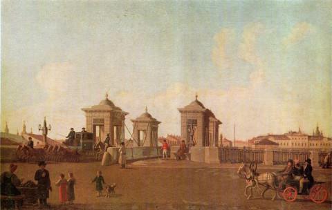 Патерсен Б., Обуховский мост через Фонтанку. до 1797 г..