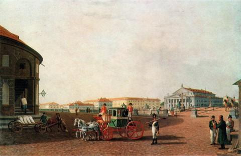 Патерсен Б., Большой театр со стороны Николського (Крюкова) канала. 1800-е гг..