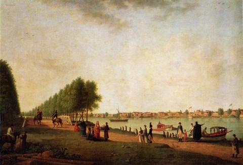 Патерсен Б., Вид Новой деревни с Каменного острова. 1801 г..