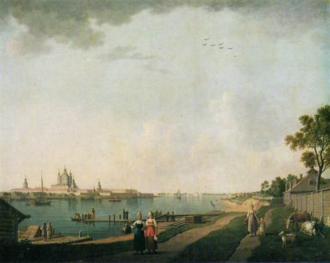 Патерсен Б., Смольный монастырь со стороны Охты. около 1800 г..