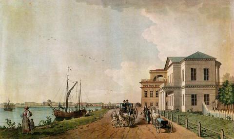 Патерсен Б., Вид на Таврический дворец со стороны Охты. 1799 г..