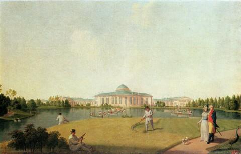 Патерсен Б., Таврический дворец со стороны сада. до 1797 г..