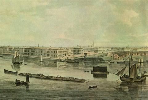 Аткинсон Д. А., Фрагмент панорамы Петербурга с башни Кунсткамеры. 1805-1807 гг..