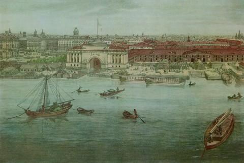 Тозелли А., Фрагмент панорамы Петербурга. 1817-1820 гг..