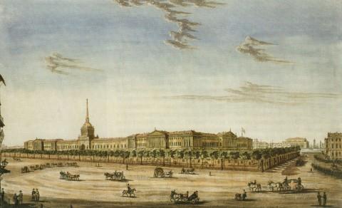 Иванов И. А., Вид Санкт-Петербургского Главного Адмиралтейства. 1814 г..