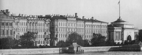 Дома №12 и 14 по Адмиралтейской набережной. кон. 1880-х гг..