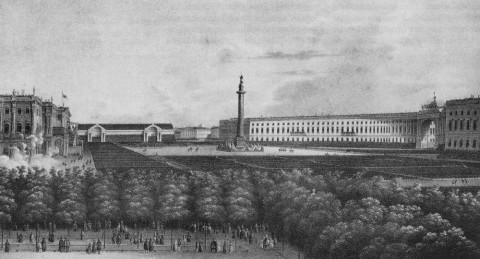 Разумихин П. И., Парад 30 августа 1834 года. 1834 г..