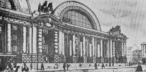 Проект нового Николаевского вокзала. 1912.