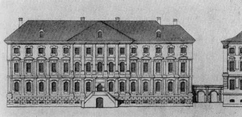 Дом Строганова на Стрелке. 1730-1740-е.