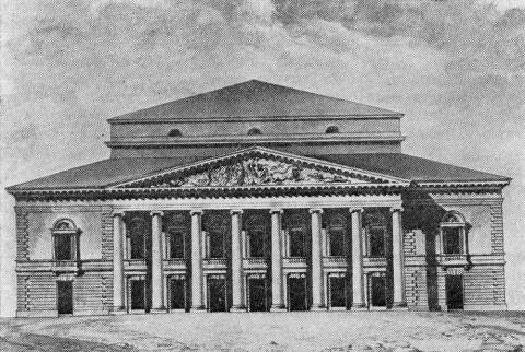 Проект Большого театра. 1802.