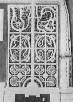 Проект планировки сада у Каменноостровского дворца. 1810.