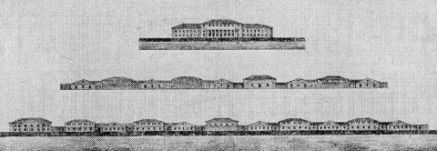 Захаров А. Д., Проект перестройки адмиралтейских казарм. Фасады.