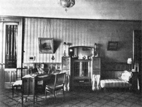 Дамский салон в квартире А. Б. Фаберже. 1908 г..
