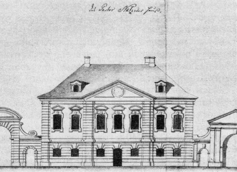 Дом Г. Г. Нациуса. 1740-е гг..