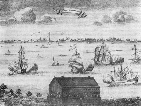 Пикарт П., Первый вид Петербурга. 1704.